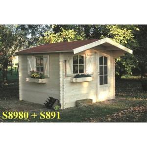 grand chalet de jardin bois chamonix 8 9 m2 ep 40 mm votre abri de. Black Bedroom Furniture Sets. Home Design Ideas