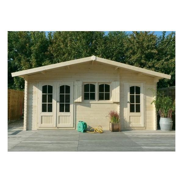Cabanon semi habitable de jardin en bois rostock 22 m2 paisseur 40 mm - Abri de jardin m habitable saint paul ...