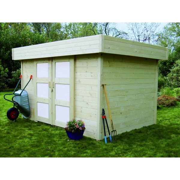 cabane de jardin en bois toit pl t stockholm. Black Bedroom Furniture Sets. Home Design Ideas
