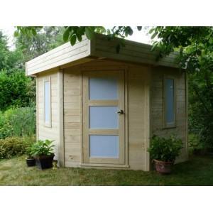 Abri de jardin de coin CHANZY 6.5 m2