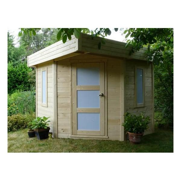 pavillon de jardin de coin chanzy 6 5 m2 ep 28 mm. Black Bedroom Furniture Sets. Home Design Ideas
