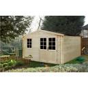 Abri de jardin BEYRIE en bois emboité 380 x 298 10.00m² ep 28mm