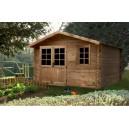 Abri de jardin en bois ALOHA 380x298 épaisseur 28mm