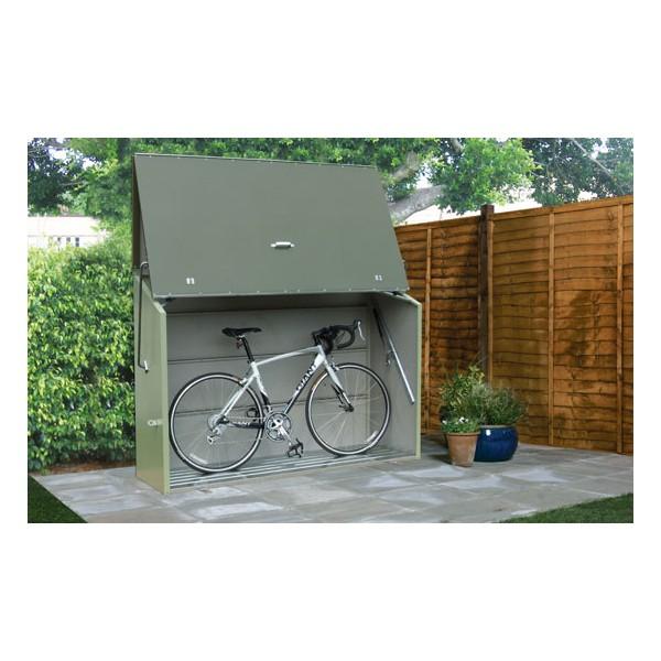 Abri Pour Vélo Sesame Couleur Vert - Votre-Abri-De-Jardin.Com