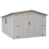 Garage Bois Panneaux 19 mm 3.00 x 4.90 x 2.22 - 14.48 m²