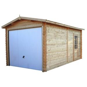 Garage bois panneaux 28 mm 2.98 x 5.20 x 2.40 m - 13.59 m²
