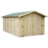 Garage en bois GAPAVIK - 2.70 x 4.50 m - ep 15 mm - 12.60 m²
