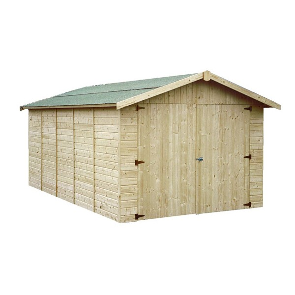 Garage en bois gapavik x m ep 15 mm for Votre garage bois