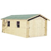 Garage en bois GAPADAN - 3.00 x 5.00 m - ep. 15mm - 15.27 m²