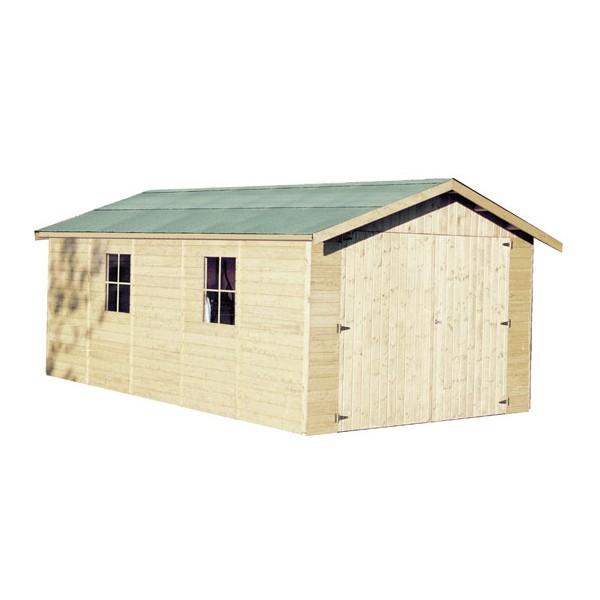 Garage en bois gapadan x m ep 15mm for Votre garage bois