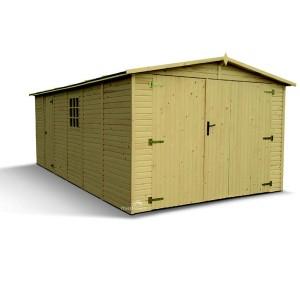 Garage panneaux brut - 3.03 x 5.88 m - Ep 19 mm - 17.40 m²