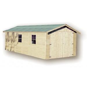 Garage en bois GAPALE - 3.00 x 6.09 m - ep. 15mm - 18.27 m²