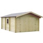 Garage en bois GAMAFOR - 3.86 x 5.50 m - ep.  28mm - 21.23 m²