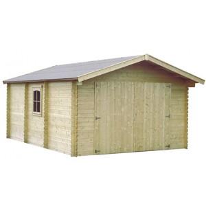 Garage en bois GAMAFOR - 3.86 x 5.50 m - ep.  28mm - 18.90 m²