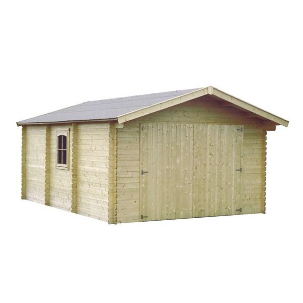 garage en bois gamafor x m ep 28mm. Black Bedroom Furniture Sets. Home Design Ideas