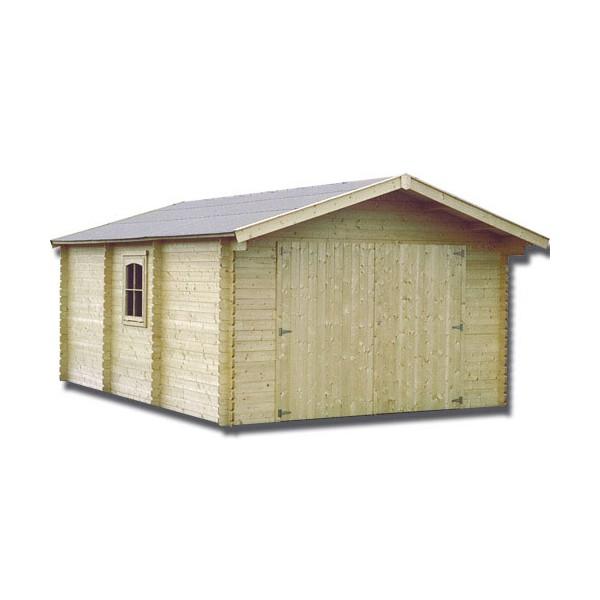 Garage en bois gamagran x m ep 44mm for Garage de jardin en bois
