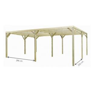 Carport en bois Monza Due - 5.00 x 6.00 m
