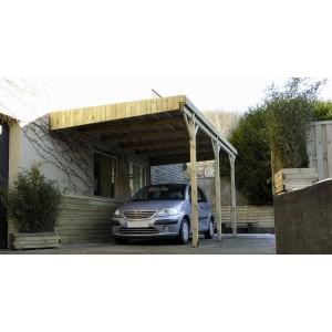 Carport en bois Mezzo 9 - 5 x 3 m