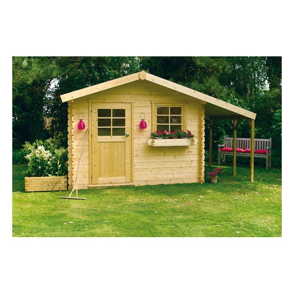 Abri de jardin bois avec abri b ches bern for Cabanon de jardin bois